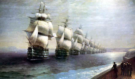 Ivan Konstantinovich Aivazovsky - The Parade of the Black Sea Fleet 1849