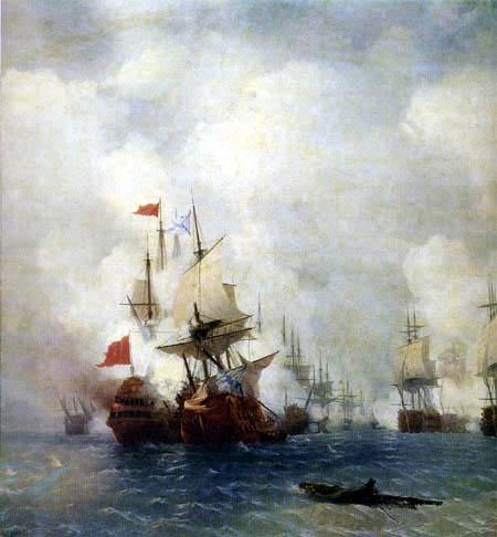 Ivan Konstantinovich Aivazovsky - Battle of Chios, 1770