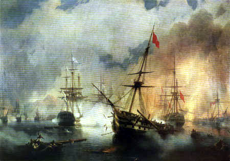 Ivan Konstantinovich Aivazovsky - Battle of Navarin, 1827