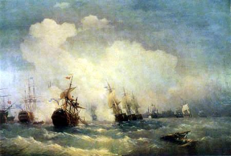 Ivan Konstantinovich Aivazovsky - Battle of Reval, 1790