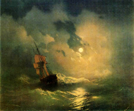 Ivan Konstantinovich Aivazovsky - Stormy Sea in the Night