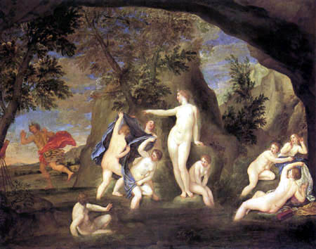 Francesco Albani - The Metamorphosis of Actaeon in a Deer