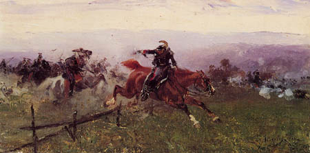 Sebastiano de Albertis - Kämpfende Kavallerie