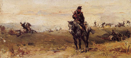 Sebastiano de Albertis - Kampf der Kavallerie