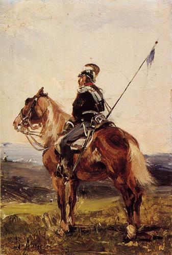 Sebastiano de Albertis - Reiter auf Wache