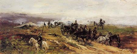 Sebastiano de Albertis - Artillery battalion