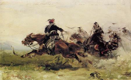 Sebastiano de Albertis - Verteidigung der Kavallerie