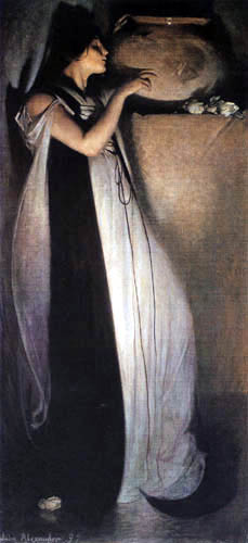 John White Alexander - Isabel and the potted of basil