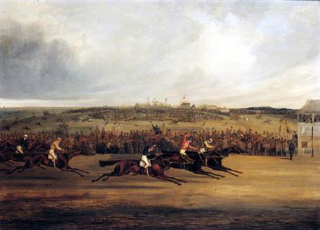 Henry Alken, Snr. - Finish of the Derby, 1849