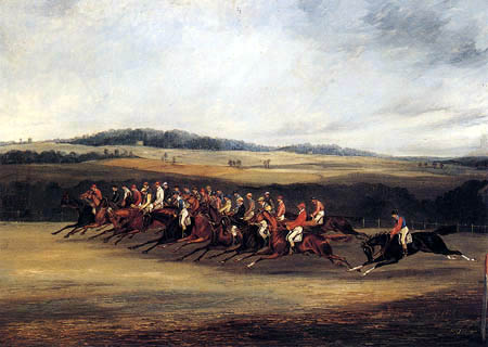 Henry Alken, Snr. - Start of the Derby, 1849