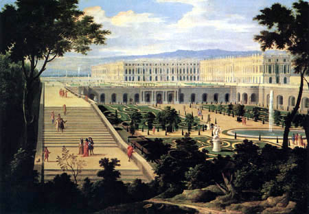 Étienne Allegrain - View of the Castle and Orangery at Versailles