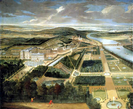 Étienne Allegrain - View of the castle and park of Saint Cloud