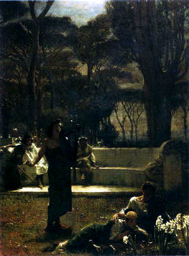 Sir Lawrence Alma-Tadema - Sängerin in der Nacht