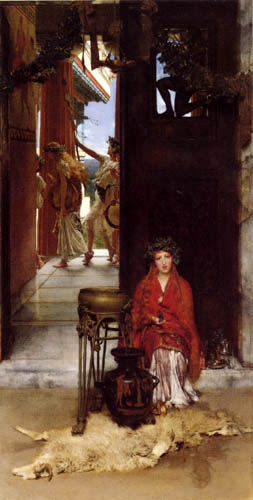Sir Lawrence Alma-Tadema - The way to the temple