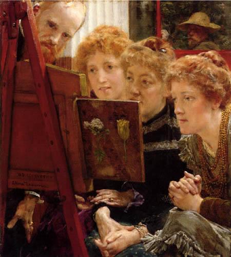 Sir Lawrence Alma-Tadema - Familiengruppe