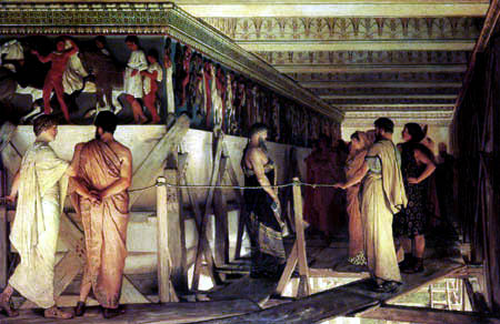 Sir Lawrence Alma-Tadema - Pheidias und der Fries von den Parthenon