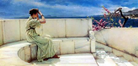 Sir Lawrence Alma-Tadema - La espera