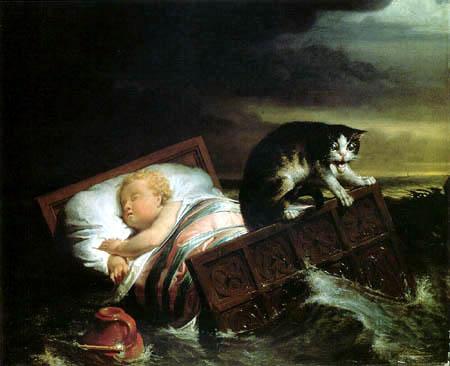 Sir Lawrence Alma-Tadema - Die Überschwemmung