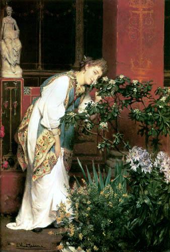 Sir Lawrence Alma-Tadema - Im Innenhof einer römischen Villa