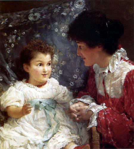 Sir Lawrence Alma-Tadema - Mother and daughter