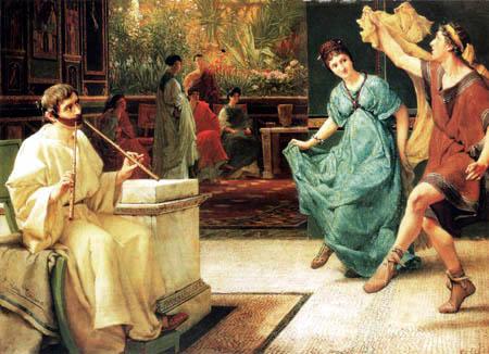 Sir Lawrence Alma-Tadema - Ein römischer Tanz