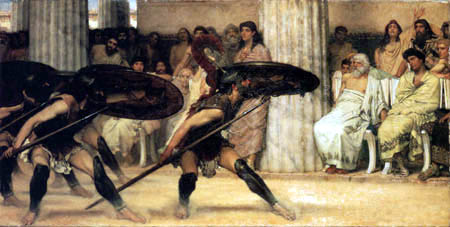Sir Lawrence Alma-Tadema - Der Pyrrhic Tanz