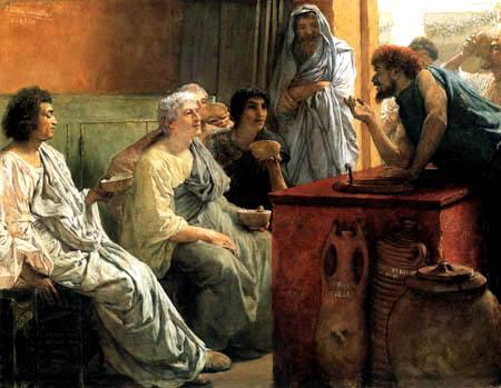 Sir Lawrence Alma-Tadema - Der Weinhändler