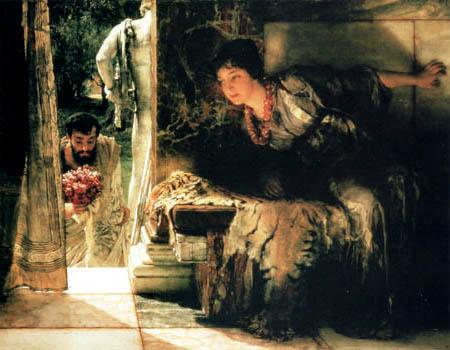 Sir Lawrence Alma-Tadema - Willkommener Besuch
