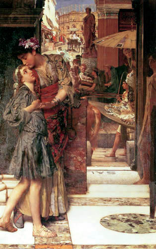Sir Lawrence Alma-Tadema - Parting kiss