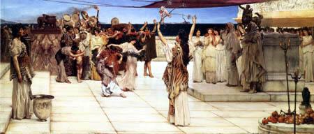 Sir Lawrence Alma-Tadema - Die Huldigung Bacchus