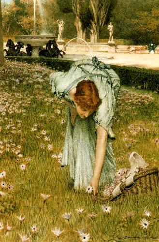 Sir Lawrence Alma-Tadema - Frühling im Garten, Villa Borghese