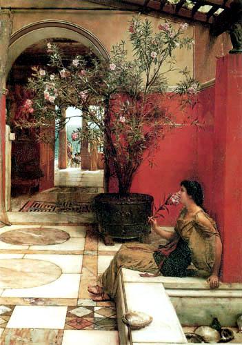 Sir Lawrence Alma-Tadema - Ein Oleanderbusch