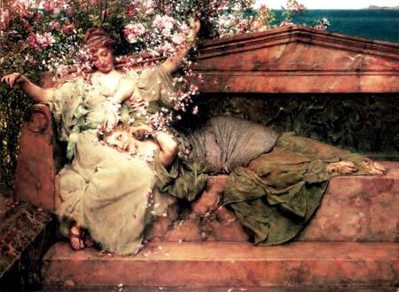 Sir Lawrence Alma-Tadema - Im Rosengarten