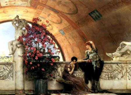 Sir Lawrence Alma-Tadema - Unbewusste Rivalinnen