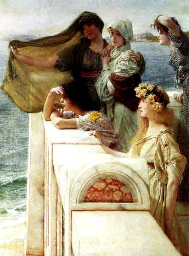 Sir Lawrence Alma-Tadema - The cradle of Aphrodite