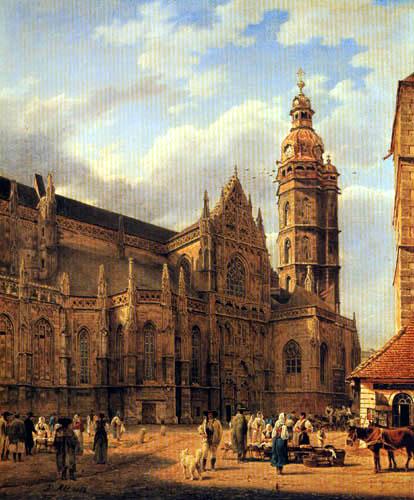 Jakob Alt - The Church Square at Kaschau