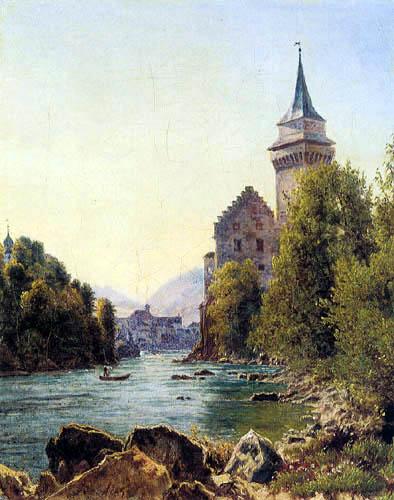 Jakob Alt - View of the castle Waidhofen