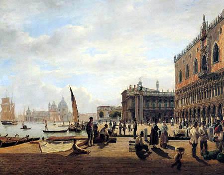 Rudolf von Alt - Die Piazetta von Venedig