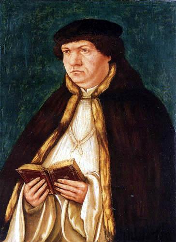 Albrecht Altdorfer - Porträt eines Schreibers, ein Buch haltend