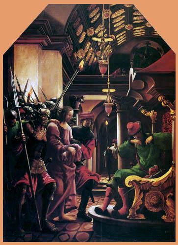 Albrecht Altdorfer - Christ Before Caiaphas