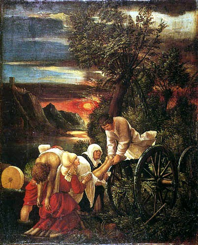 Albrecht Altdorfer - The salvage of the body