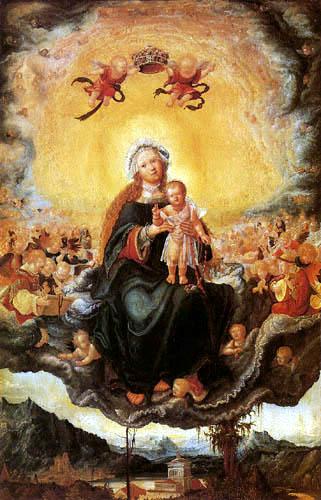 Albrecht Altdorfer - Maria mit dem Kind in der Engelsglorie