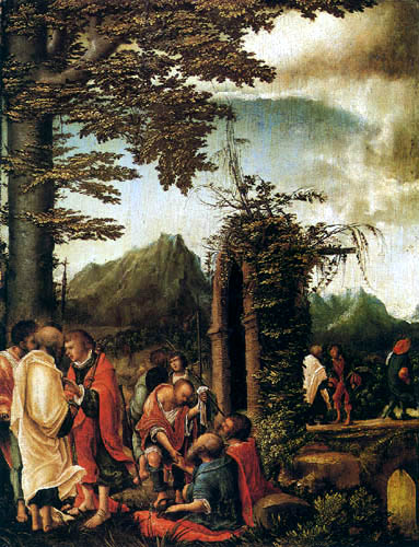 Albrecht Altdorfer - The Parting of the Apostles