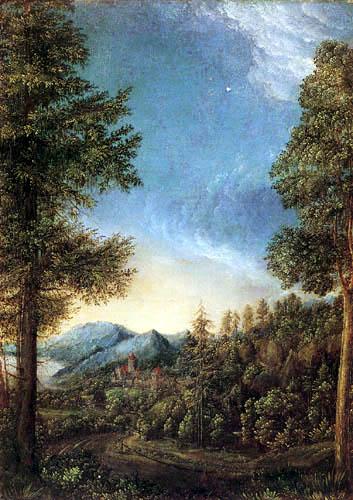 Albrecht Altdorfer - Danube landscape near Regensburg