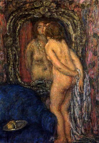 Edmond Aman-Jean - Frau am Spiegel