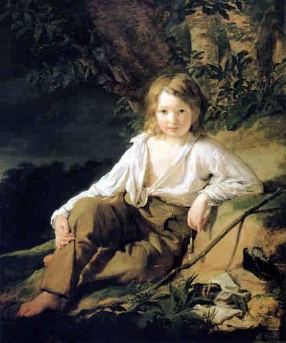 Friedrich von Amerling - Portait of a Boy