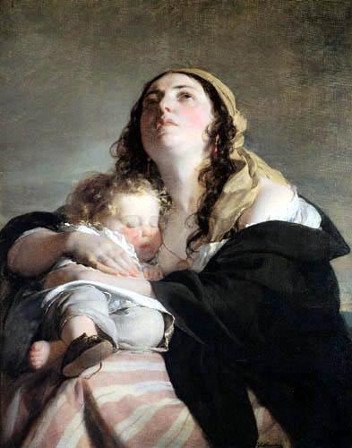 Friedrich von Amerling - Die Witwe (Elise Kreuzberger)