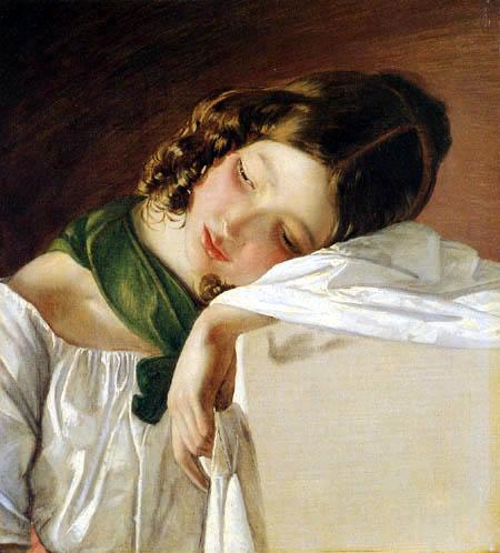 Friedrich von Amerling - Junges Mädchen