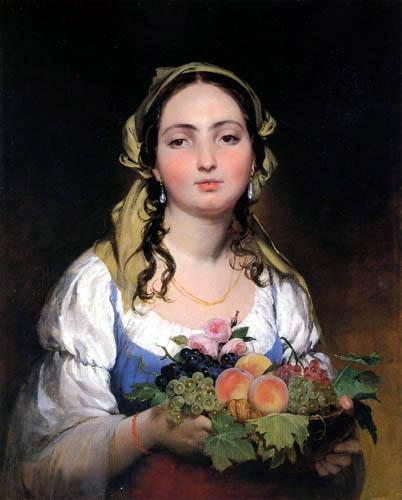 Friedrich von Amerling - Mädchen mit Früchtekorb