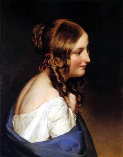 Friedrich von Amerling - Portait of a Girl